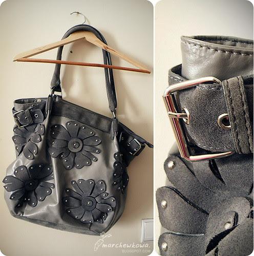 marchewkowa.blogspot.com, j.z., fashion blog, Jacqueline Riu, moda 2009, vintage style, ćwieki, skóra, kwiaty, klamry
