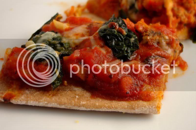sausage kale pizza