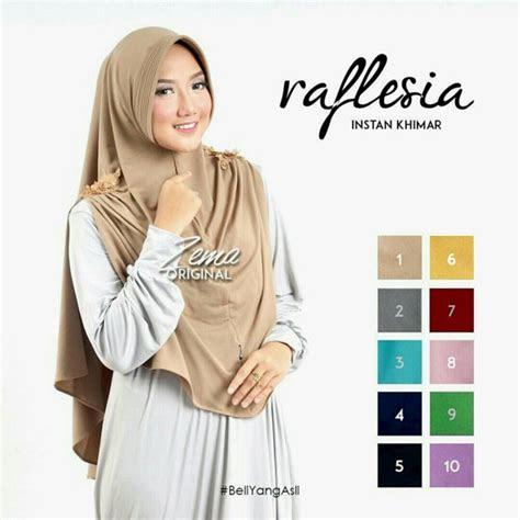 model hijab  jilbab instan syari khimar raflesia
