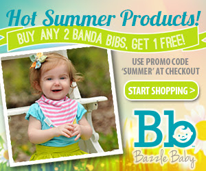 Buy any 2 Banda Bibs, Get One Free at bazzlebaby.com