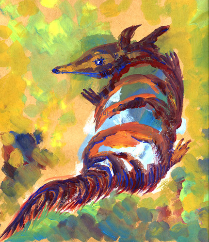 Illustration Friday: time / numbat