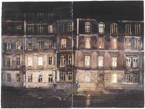 Krakow 2009 watercolor on paper 150 x 200 cm