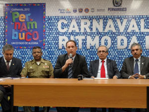 Secretaria de Defesa Social de Pernambuco faz balanço do carnaval 2012 (Foto: Luna Markman/G1 PE)