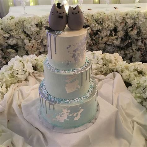 Our pusheen wedding cake, many thanks to ameeezcakes on