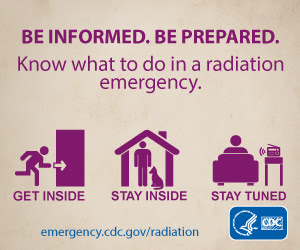 Be Informed. Be Prepared. Know what to do in a radiation emergency.