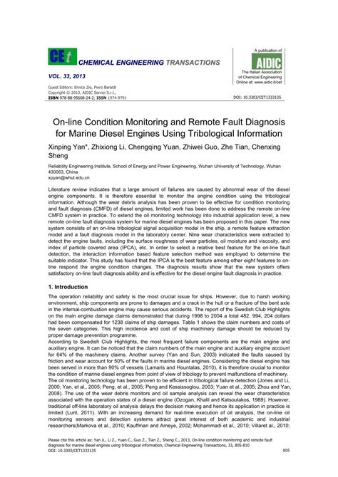 (PDF) On-line Condition Monitoring and Remote Fault