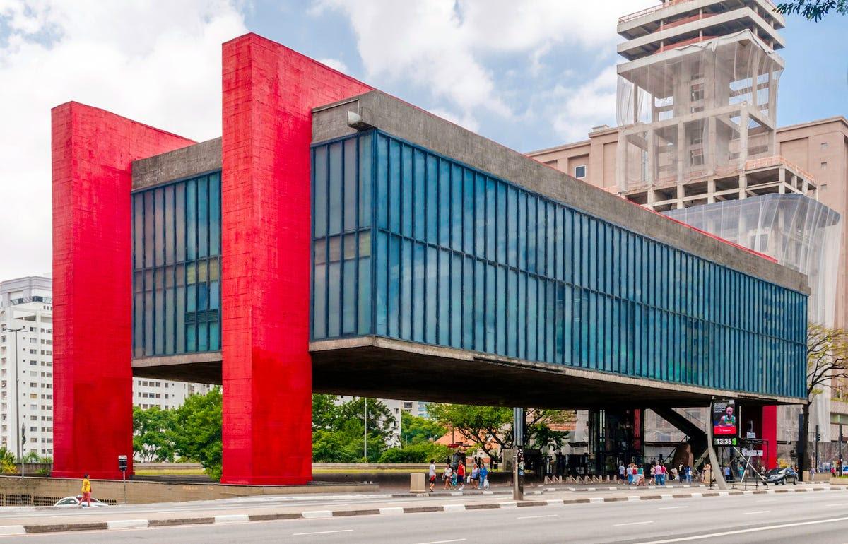 The São Paulo Museum of Art in São Paulo, Brazil.
