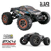 Special Price JTY Toys 1:10 RC Car Bigfoot Monster Off-Road Vehicle IPX4 Waterproof 46km/h High Speed Radio Remote Control Cars For Adults