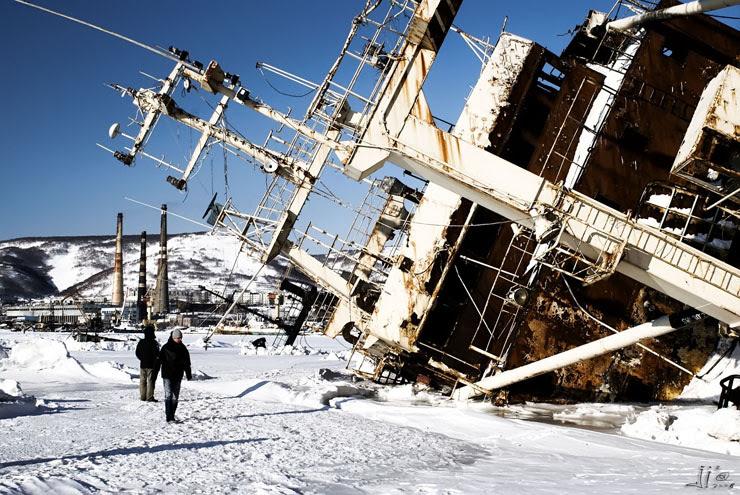 abandoned ships in  kamchatka, Russia 5