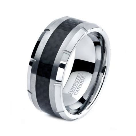 Black Tungsten Ring, Black Men Tungsten Rings, Black