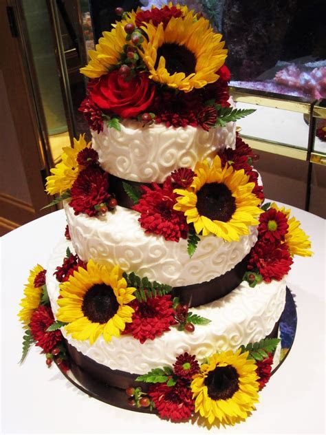 sunflowers, wheat, and camo wedding   Cakes by Sarah