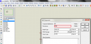 Editing Properties of Resistor in Proteus