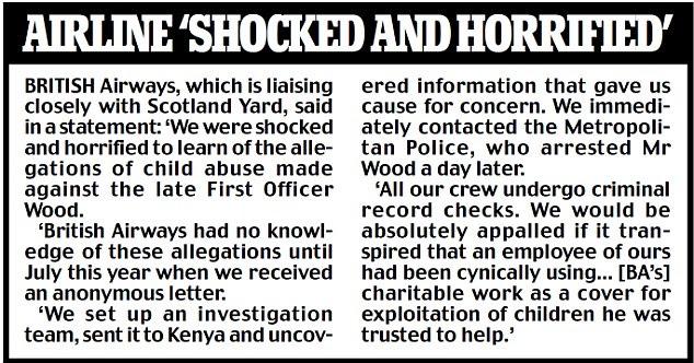 British Airways 'Shocked and horrified'