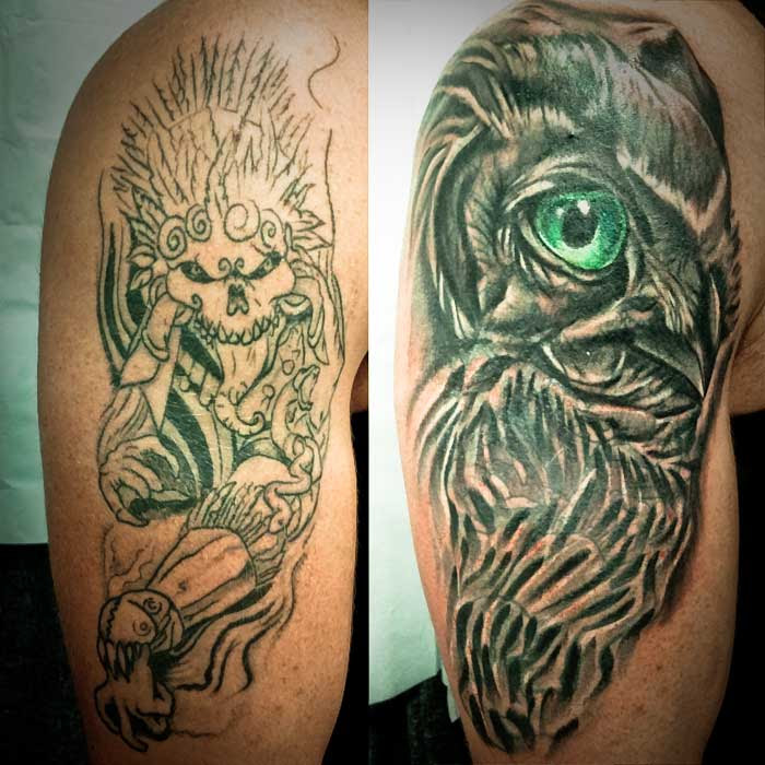 Super Awesome Owl Cover Up Tattoo Heart For Art Tattoo Shop