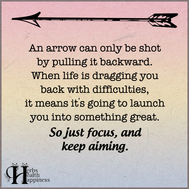 An Arrow Can Only Be Shot By Pulling It Backward ø Eminently