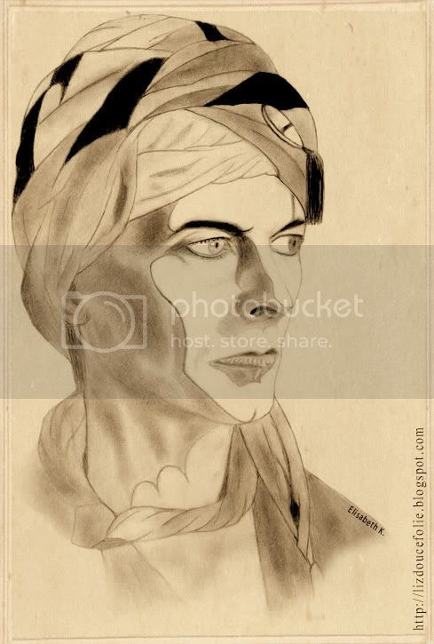 David Bowie portrait dessin drawing