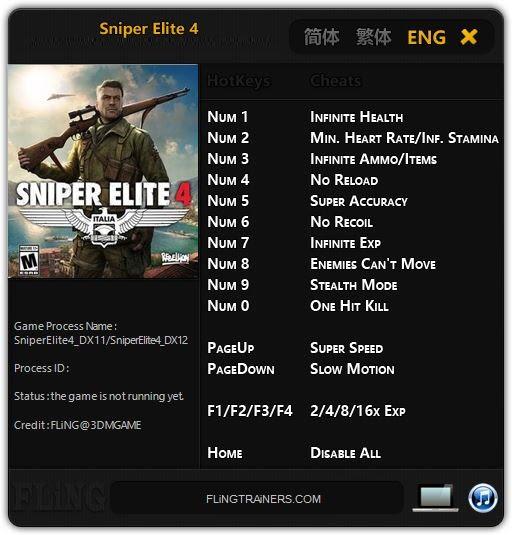 Sniper Elite 4 flingtrainers