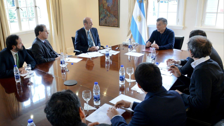 Macri con Sturzenegger en Olivos Presidencia