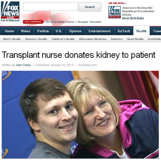 Clay Taber com a enfermeira que salvou sua vida. (Foto: Fox News / Reprodução)