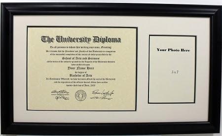 University Diploma Certificate Frame 8 12 X 11 Photo Frame Ready
