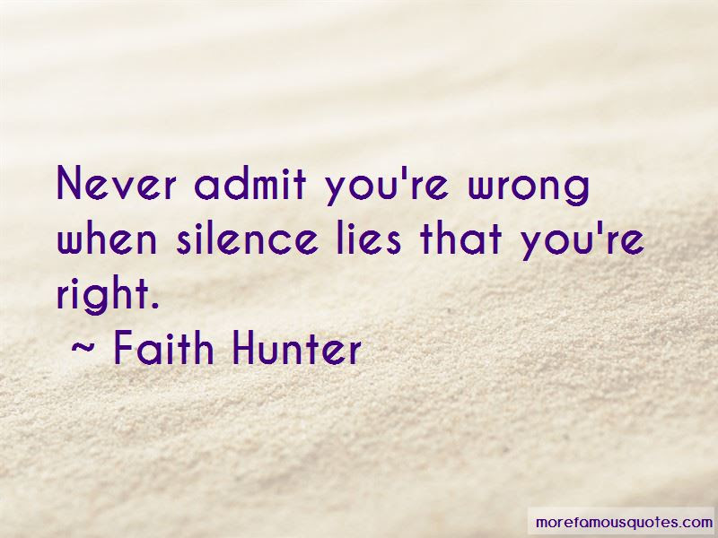 Faith Hunter Quotes Top 73 Famous Quotes By Faith Hunter
