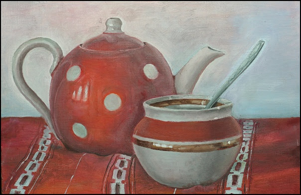 Red still life by Gregory Avoyan
