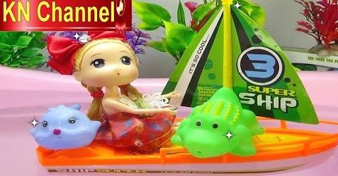 Đồ chơi trẻ em Bé Na Nhật ký chibi Búp bê tập chơi Du Thuyền Baby doll & Ship Childrens toys