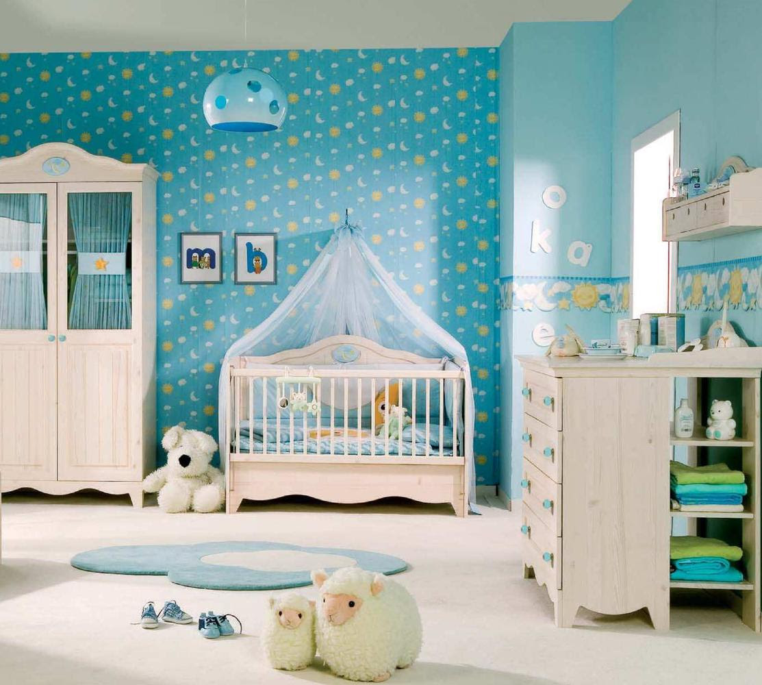 Baby-Room-Themes-Idea-Colorful-Blue - Top Dreamer