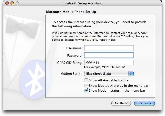 Mac OS X: instalación de Bluetooth de dispositivos móviles