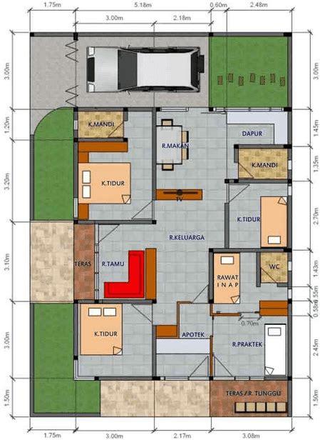 Denah Rumah Type 36 Lengkap ~ Renovasi Rumah Minimalis ...