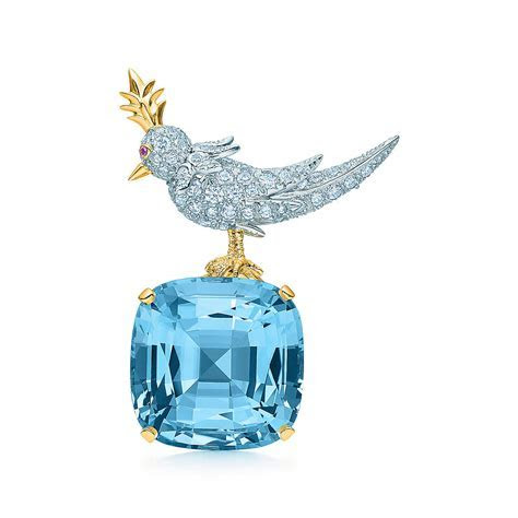 Tiffany & Co. Schlumberger® Bird on a Rock clip with an