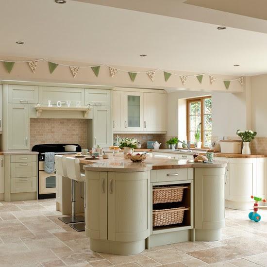 Kitchen shelving | Green kitchen colour ideas - home ...
