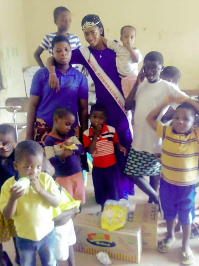 Miss Ads4naira Beauty Queen Okafor Onyinye Celebrates Kids on Nigeria Independence day (pics)
