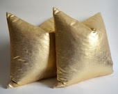 Sukan / 1 Linen Pillow Covers Gold - large pillow - euro pillow covers - european pillow covers - throw pillow - 26x26 pillow covers - sukanart