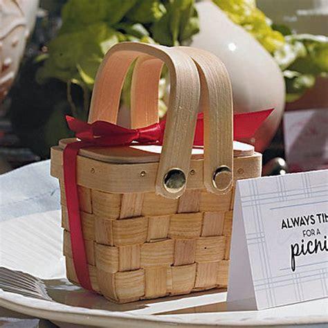 6 Pc. Miniature 3 x 2 Woven Picnic Basket Favors Set
