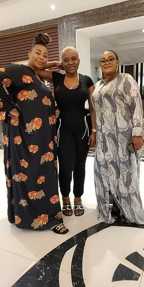 2face's family link up with Pero in Abuja; endorses her as the 'first lady'
