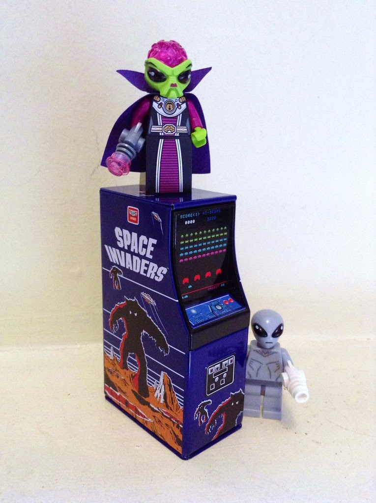 loot crate april 2013 token arcade video game space invaders candy tin LEGO alien