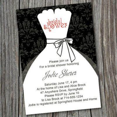 Black and white inexpensive wedding dress bridal shower