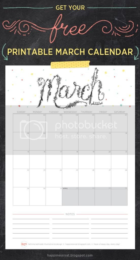 Happiness is... March 2015 Free Printable Calendar and Planner