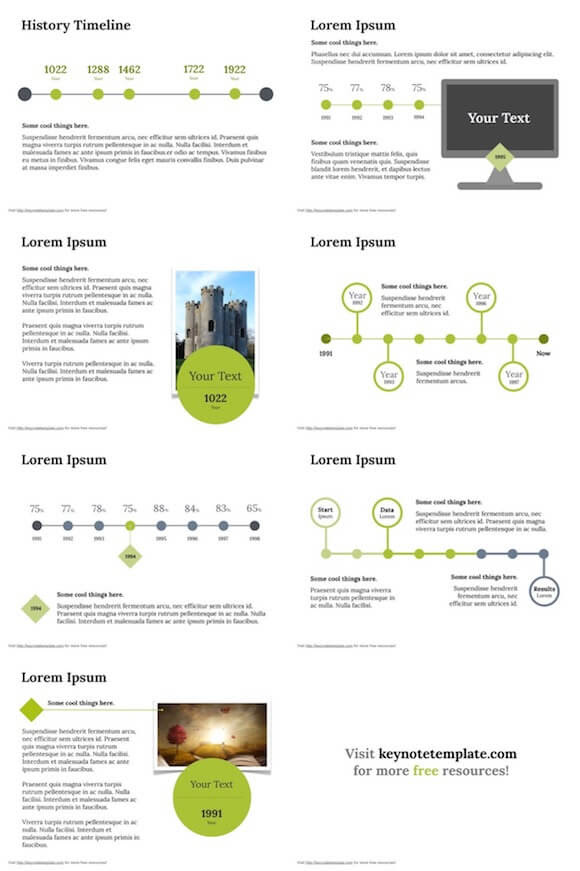 History Timeline Powerpoint Template Free