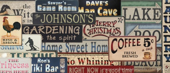 Custom Signage Weathered Rustic rustic the Jones  company Sign sign Co: