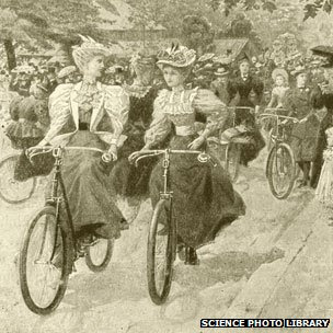 Cycling in Battersea Park 1890s
