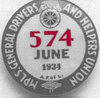 Teamsters' button