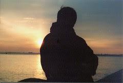 solitudine, tramonto, mare, Venezia