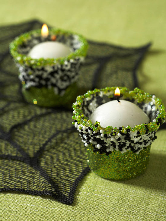 Beaded Candle Cups