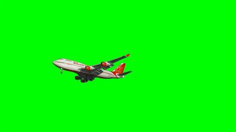 Airplane Airbus with sound   free green screen background