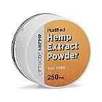 LiftMode 99+% Pure Hemp Extract Isolate Crystalline Powder 250mg – For Sleep, Pain, Stress & Anxiety Relief | THC-Free, Non-GMO, Organic & Gluten Free