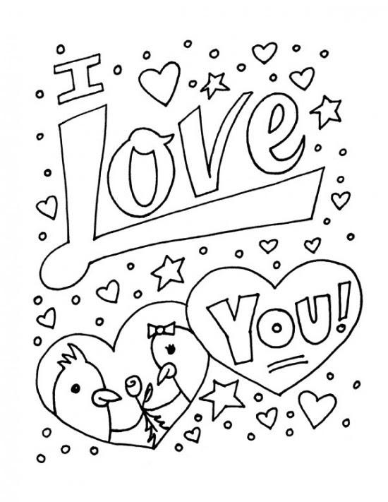 83 Dessins De Coloriage I Love You à Imprimer Sur Laguerchecom Page 6