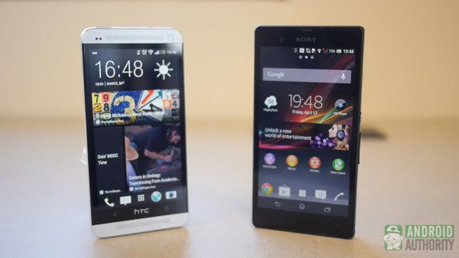 Huawei Ascend D2, HTC One, Sony Xperia Z, iPhone 5, Retina