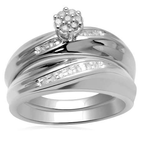 Eternal Treasures 1/7ct Sterling Silver Women's Diamond